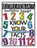 Multiplication Facts Bulletin Board