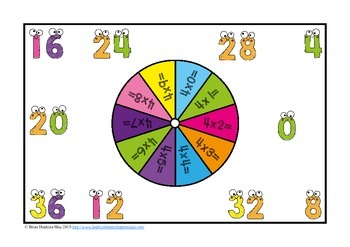Multiplication Facts Bump Fluency
