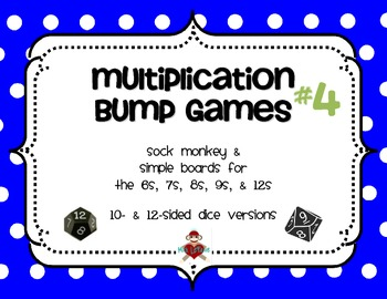 Multiplication Facts Bump Games Pack #4 (6s, 7s, 8s, 9s, 12s)