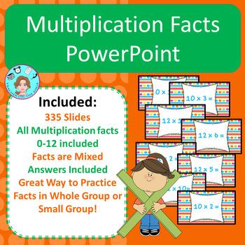 Multiplication Facts Bundle – Memorization & Practice – No Prep, Print, & Go