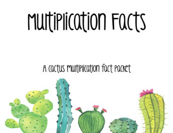 Multiplication Facts- Cactus Theme
