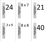 Multiplication Facts Card Decks - Good for review