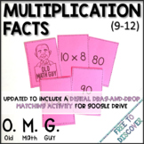 Multiplication Facts Card Game (9-12)