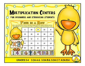 Spring Multiplication Math Stations