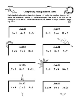 Multiplication Facts Challenges