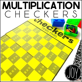 Multiplication Facts Checkers Game for Math Centers and Math Stations