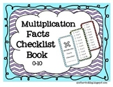 Multiplication Facts Checklist Book