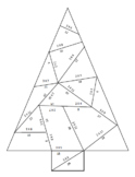 Multiplication Facts Chirstmas Tree Puzzle Bundle