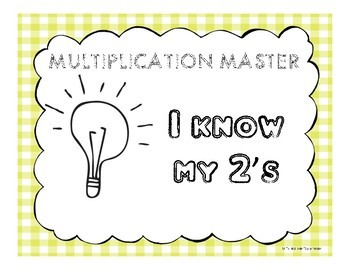 Multiplication Facts Clip Sheet