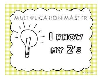 Multiplication Facts Clip Sheet