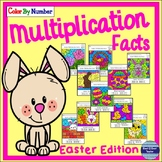 Multiplication Facts Color By Number:  Easter Edition