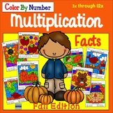 Multiplication Facts:  Color By Number Fall Edition