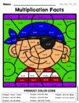 Multiplication Facts: Color By Number Pirates