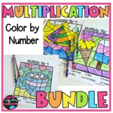 Multiplication Facts Color By Number BUNDLE  May Morning Work