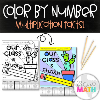 Multiplication Facts Color by Number: Our Class is SHARP! (Products of 6 & 7)