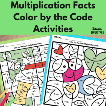 Multiplication Facts Color by the Code