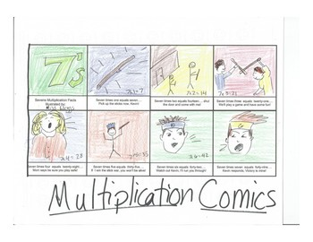 Multiplication Facts Comic Strip BUNDLE - sevens, eights, and nines