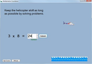 Multiplication Game: Multiplication-Fact Practice Game--Multiplication Countdown
