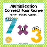 Multiplication Facts Game Fun Connect Four Partner Color Activity