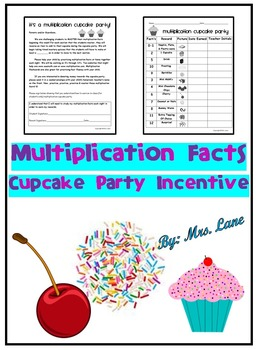 Multiplication Facts Cupcake Party Incentive