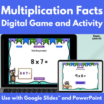 Multiplication Facts Digital Game | Distance Learning Game