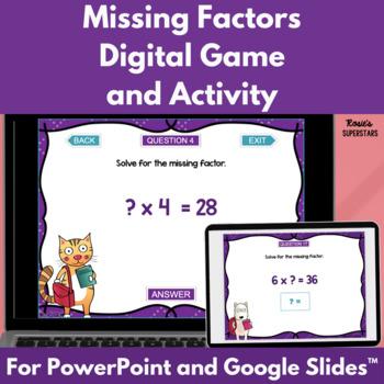 Missing Factors Digital Game| Distance Learning Game