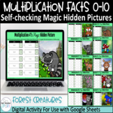 Multiplication Facts Digital Hidden Pictures Forest Creatures