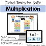 Multiplication Facts | Digital Tasks for Special Education