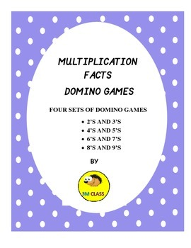 MULTIPLICATION FACTS DOMINO GAMES- FREEBIE