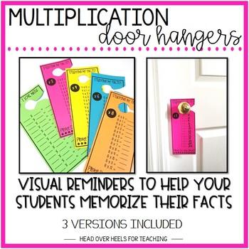 Multiplication Facts Door Hangers {0-12 FACTS}