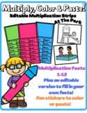 Multiplication Facts EDITABLE Multiply Strips With Fun Rew