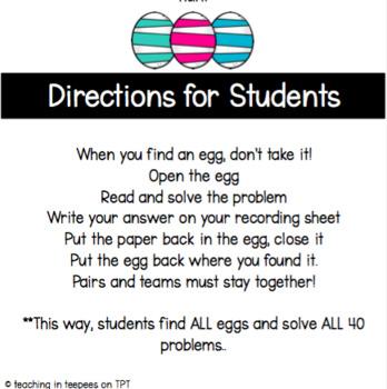 Multiplication Facts- Easter Egg Hunt