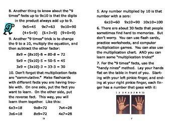 Multiplication Facts - Easy to Learn Series