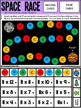 Multiplication Facts - Eleven Printable Game