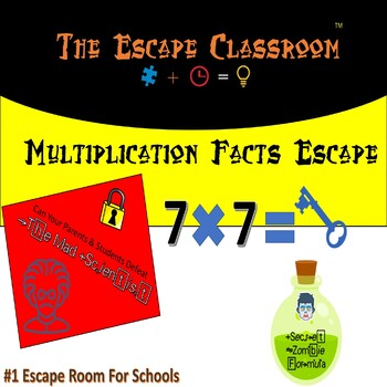 Multiplication Facts Escape Classroom