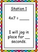 Multiplication Facts Fluency Exercise Activity/Task Cards- Kinesthetic Learning!