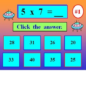 Multiplication Facts Powerpoint One FREE PREVIEW