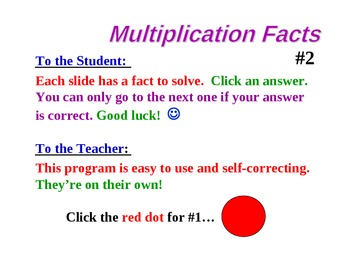 Multiplication Facts FREE Powerpoint PREVIEW Two