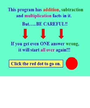 Multiplication Facts Powerpoint Three FREE PREVIEW