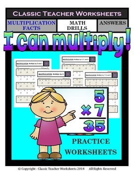 Multiplication Facts - Facts to 12 - Math Drills - Grades
