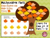 Multiplication Facts 3rd, 4th Grade - Autumn Trees