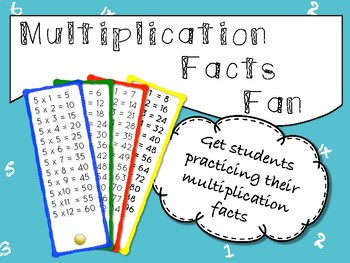 Multiplication Facts Fan
