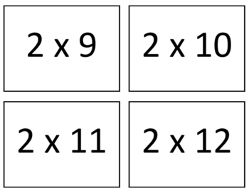 Multiplication Facts Flash Cards 0-12