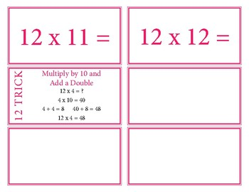 Multiplication Facts Flash Cards 0-12 with Tricks