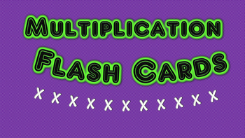 Multiplication Facts Flash Cards (2)