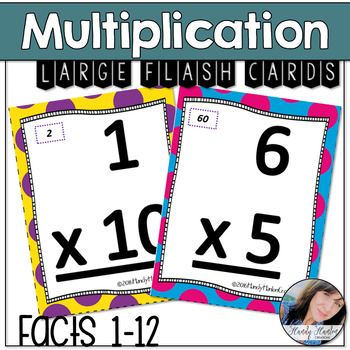 Multiplication Facts Flash Cards Large