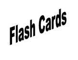 Multiplication Facts Flash Cards