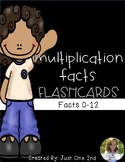 Multiplication Facts Flash Cards - Facts 0-12