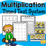Multiplication -- Flash Cards, Timed Tests, Tracking Forms and Brag Tags