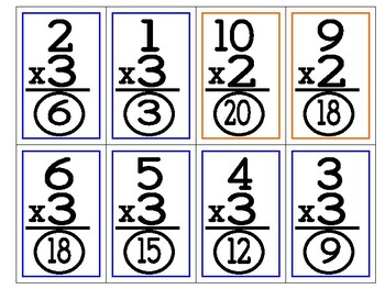 Multiplication Facts - Flashcards